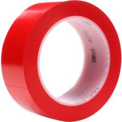 "3M™ 471 Vinyl Tape, 3"" Core, 2"" x 36 Yd., Red, Case Of 24"