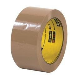 """3M® 371 Carton Sealing Tape, 2"""" x 55 Yd., Tan, Case Of 36"""