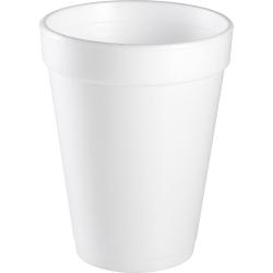 Dart Handi-Kup Insulated Styrofoam Cups, 14 Oz., White, Box Of 1,000