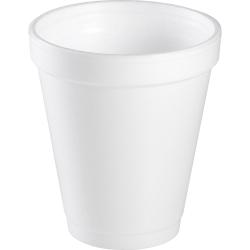 Dart Handi-Kup Insulated Styrofoam™ Cups, 6 Oz, White, Box Of 1,000 Cups