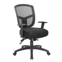 Boss Office Products Contract Mesh Mid-Back Task Chair, Black