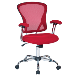 Office Star™ Avenue Six Juliana Mesh Task Chair, Red/Silver