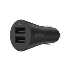 Belkin® BOOST↑UP™ 2-Port USB Car Charger, Black, F8M930BTBLK