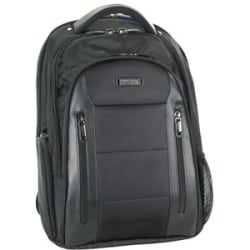 """Fujitsu Heritage Carrying Case (Backpack) for 15"""" to 15.6"""" Notebook - Dobby Polyester, Polyvinyl Chloride (PVC) - Checkpoint Friendly - Shoulder Strap, Handle, Luggage Strap - 17.5"""" Height x 13"""" Width x 8"""" Depth"""