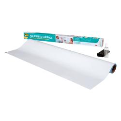 "Post it® Flex Write Non-Magnetic Dry-Erase Whiteboard Surface, 36"" x 48"", White"