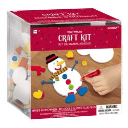 Amscan Christmas Snowman Craft Kits, 24 Kits Per Pack, Case Of 2 Packs