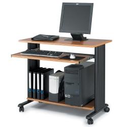 "Safco Muv 35""W Fixed Height Desk, Medium Oak"