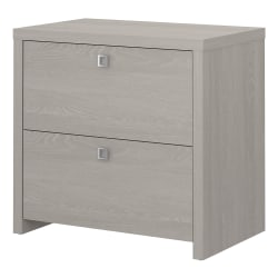 """kathy ireland® Office by Bush Business Furniture Echo 32""""W Lateral 2-Drawer File Cabinet, Gray Sand, Standard Delivery"""