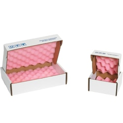 "Office Depot® Brand Antistatic Foam Shippers, 18""H x 18""W x 4""D, Pink/White, Case Of 9"