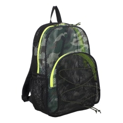 Eastsport Sport Mesh Backpack, With Bungee, Army Camo/Black