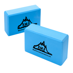 "Black Mountain Products Yoga Blocks, 3""H x 6""W x 9""D, Blue, Pack Of 2"