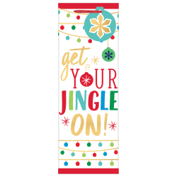 "Amscan Christmas Jingle On Bottle Bags, 14""H x 5""W x 5""W, Multicolor, Pack Of 16 Bags"