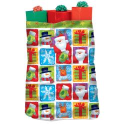 "Amscan Christmas Holiday Friends Gift Sacks, 44""H x 36""W x 30""D, Multicolor, Set Of 3 Gift Sacks"