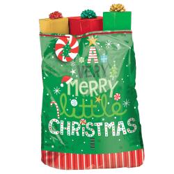 "Amscan Christmas Very Merry Plastic Gift Sacks, 56""H x 44""W x 30""D, Multicolor, Set Of 2 Gift Sacks"