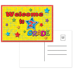 """Top Notch Teacher Products Welcome To 2nd Grade Postcards, 4 1/2"""" x 6"""", Multicolor, 30 Postcards Per Pack, Bundle Of 12 Packs"""