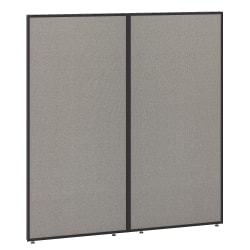 """Bush Business Furniture ProPanels 66""""H Office Partition, 60""""W, Light Gray/Slate, Standard Delivery"""