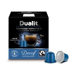 Dualit And Nespresso® Compatible Coffee NX Pods, Decaf Espresso 7 Oz, Carton Of 60