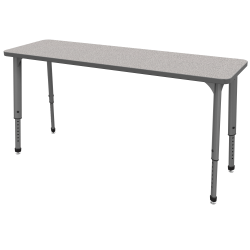 "Marco Group Apex™ Series Adjustable Rectangle Student Desk, 20"" x 60"", Gray Nebula/Gray"