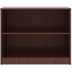 """Lorell® Laminate Bookcase, 2-Shelf, 30""""H, Mahogany"""