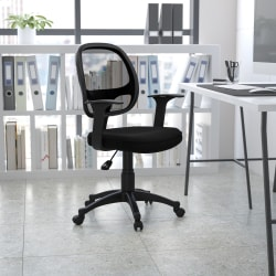 Flash Furniture Mesh Mid-Back Swivel Task Chair, Black
