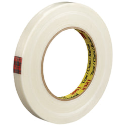 "Scotch® 8981 Strapping Tape, 3"" Core, 0.5"" x 60 Yd., Clear, Case Of 72"
