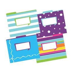 """Barker Creek Tab File Folders, 8 1/2"""" x 11"""", Letter Size, Happy, Pack Of 12"""