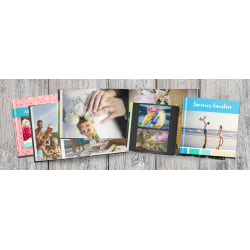 "Seamless Lay-Flat Hardcover Photo Book With Extra Pages, 8"" x 8"""