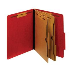 "Pendaflex® Color Moisture-Resistant 6-Fastener Classification Folders, 2"" Expansion, Letter Size, Dark Red, Box Of 10 Folders"