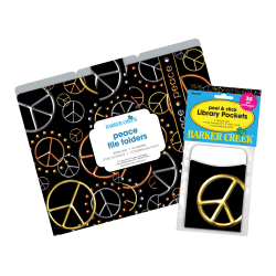 "Barker Creek Folder/Pocket Set, 9"" x 12"", Peace, Set of 42"