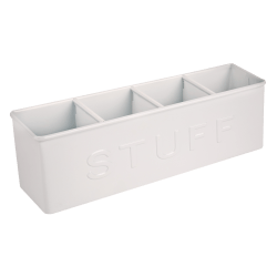 Brenton Studio® 4-Compartment Desktop Storage Organizer, White