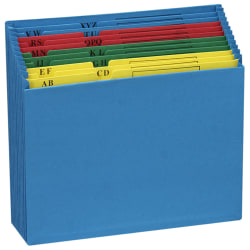Pendaflex® File Pockets, Expanding, A-Z, Letter Size, Blue