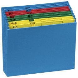 Pendaflex® File Pockets, QuickView Monthly Desktop Project, Letter Size, Jan-Dec, Blue