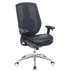 Serta® iComfort i5000 Mesh/Bonded Leather High-Back Task Chair, Onyx