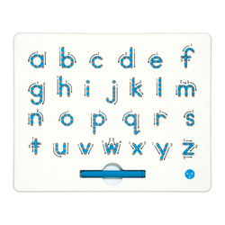 """Kid O Products A-To-Z Magnatab Board, Lowercase, 13/16""""H x 10""""W x 12""""D, Pre-K - Grade 2."""