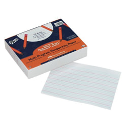 """Pacon Multi-Program Handwriting Papers, Grade K-1, 10 1/2"""" x 8"""", Pack Of 500 Sheets"""