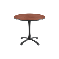 Safco® Cha-Cha X-Base Sitting-Height Table, Cherry/Black