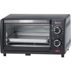 Betty Crocker BC-1664CB Toaster Oven - 0.32 ft³ Capacity - 1000 W - Toast, Broil, Bake - Black, Stainless Steel