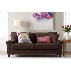 "Serta® Copenhagen Deep-Seating Sofa, 78"", Brown/Espresso"