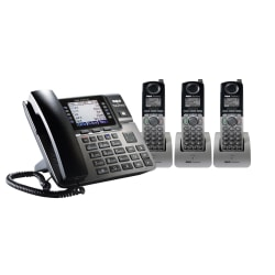 RCA Unison DECT 6.0 Expansion Handsets For Select RCA Expandable Phone Systems, RCA-U1B0D3HS, Pack Of 3 Handsets