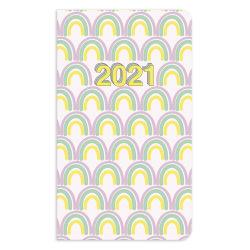 """Office Depot® Brand Monthly Planner, 3-1/2"""" x 6"""", VSCO Girl, January to December 2021, DX191547-006"""