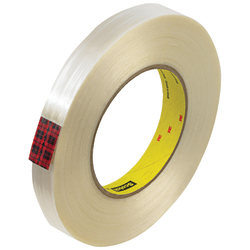 """Scotch® 890MSR Strapping Tape, 3"""" Core, 0.75"""" x 60 Yd., Clear, Case Of 12"""