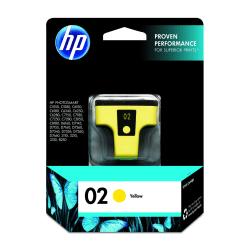 HP 02, Yellow Original Ink Cartridge (C8773WN)