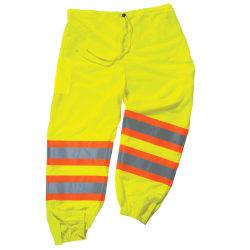 Ergodyne GloWear® 8911 Class E Polyester 2-Tone Pants, 2X/3X, Lime