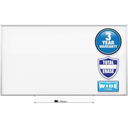 "Quartet® Silhouette Total Melamine Dry-Erase Whiteboard, 22"" x 39"", Aluminum Frame With Silver Finish"