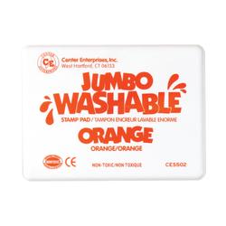"Center Enterprise Jumbo Washable Unscented Stamp Pads, 6 1/4"" x 4"", Orange, Pack Of 2"