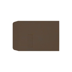 """LUX Open-End Window Envelopes With Peel & Press Closure, #9 1/2, 9"""" x 12"""", Chocolate, Pack Of 500"""
