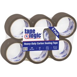 "Tape Logic® #900 Economy Tape, 2"" x 55 Yd., Tan, Case Of 6"