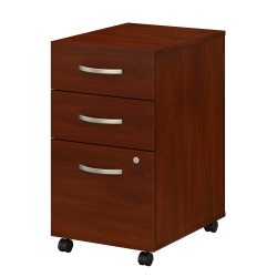 "Bush Business Furniture Studio C 20-1/6""D Vertical 3-Drawer Mobile File Cabinet, Hansen Cherry, Standard Delivery"