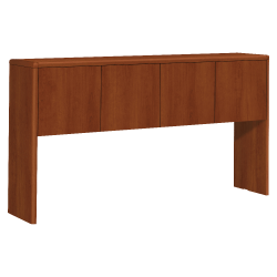 """HON® 10700 Series Laminate Stack-On Hutch, For 72"""" Credenza, Cognac"""