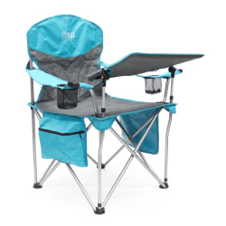 Creative Outdoor Folding iChair With Wine Holder, Gray/Teal